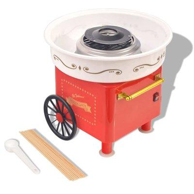 Suikerspinmachine op wieltjes 480 W rood