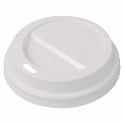 Deksels voor wegwerp koffiebekers plastic 80 mm 1000 st