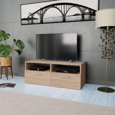 Tv-kast 95x35x36 cm spaanplaat eikenkleurig
