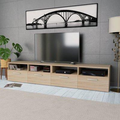 Tv-kasten 95x35x36 cm spaanplaat eikenkleurig 2 st