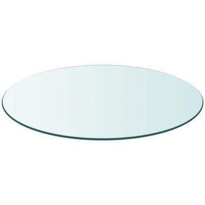 Tafelblad van gehard glas 700 mm rond