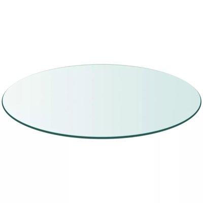 Tafelblad van gehard glas 800 mm rond