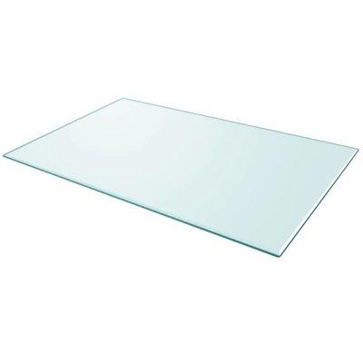 Tafelblad van gehard glas 1000x620 mm rechthoekig