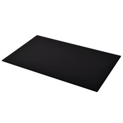 Tafelblad van gehard glas 1200x650 mm rechthoekig