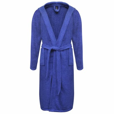 500 g/m² Badjas badstof blauw unisex (maat XL)