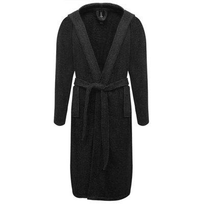 500 g/m² Badjas badstof zwart unisex (maat M)