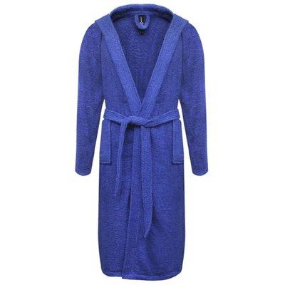 500 g/m² Badjas badstof blauw unisex (maat L)