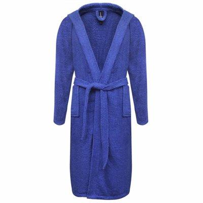 500 g/m² Badjas badstof blauw unisex (maat S)