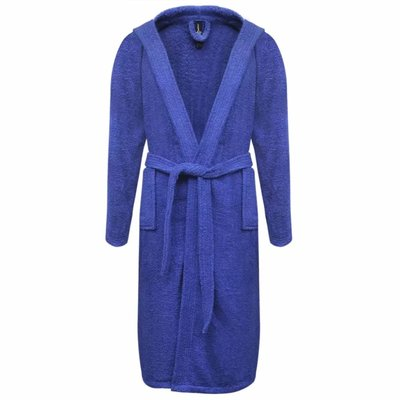 500 g/m² Badjas badstof blauw unisex (maat M)