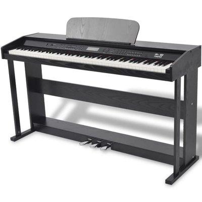 digitale piano met pedalen zwart melamine plaat 88 toetsen