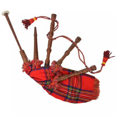 Kinderdoedelzak Schots Great Highland rood Royal Stewart Tartan