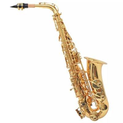 Altsaxofoon messing met goudlak Eb