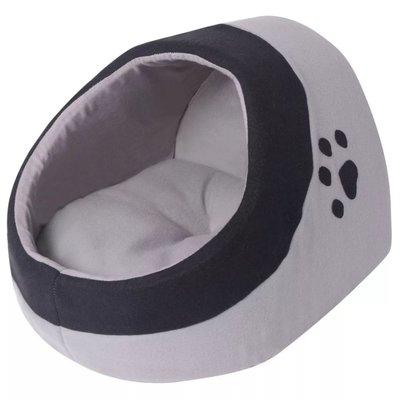 Kussen voor katten grijs en zwart L