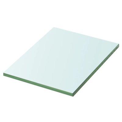 Wandschap transparant 20x15 cm glas