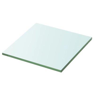 Wandschap transparant 20x20 cm glas