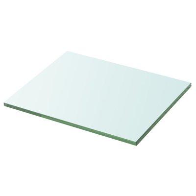 Wandschap transparant 20x25 cm glas