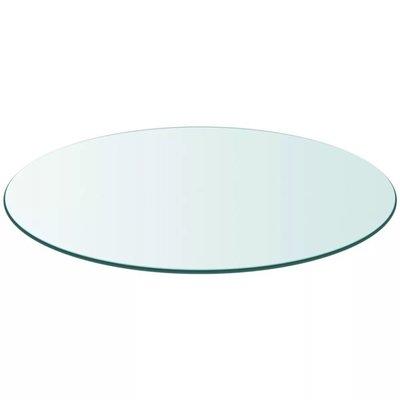 Tafelblad van gehard glas 400 mm rond