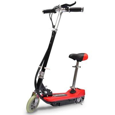 Elektrische step met zitje 120 W rood