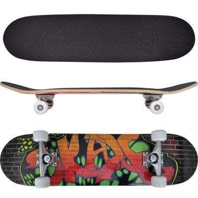 "Ovaal skateboard met graffiti design 9-laags esdoorn hout 8"""