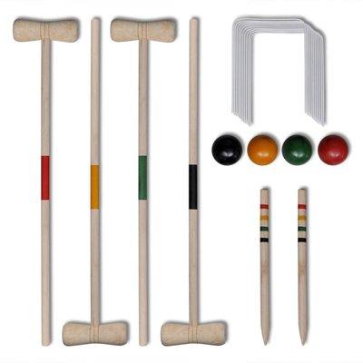 Croquetspel voor 4 spelers hout