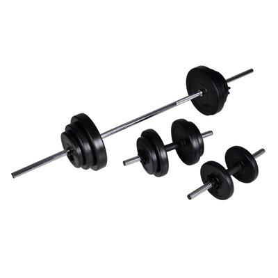 Barbell- en dumbbellset 30,5 kg