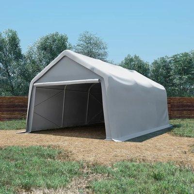 Opslagtent 550 g/m² 4x6 m PVC wit