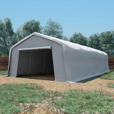 Opslagtent 550 g/m² 5x10 m PVC wit