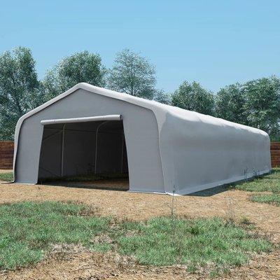 Opslagtent 550 g/m² 6x12 m PVC wit