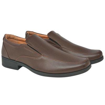 Heren loafers bruin maat 45 PU leer