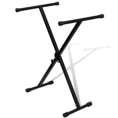Keyboardstandaard verstelbaar enkelvoudig X-frame
