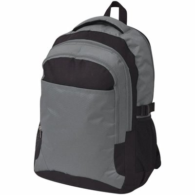 Rugzak voor school 40 L zwart en grijs