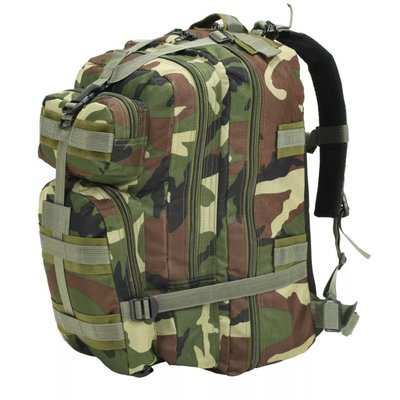 Rugzak legerstijl 50 L camouflage