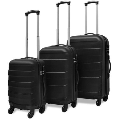 Harde kofferset zwart 3-delig