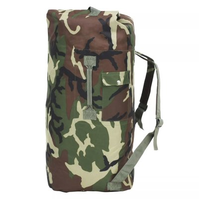 Sporttas legerstijl 85 L camouflage