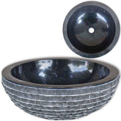 Wastafel Marmer 40 cm Zwart