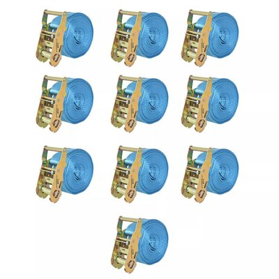 Spanbanden 2 ton 6mx38mm blauw 10 st