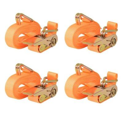 Spanbanden 0,4 ton 6mx25mm oranje 4 st