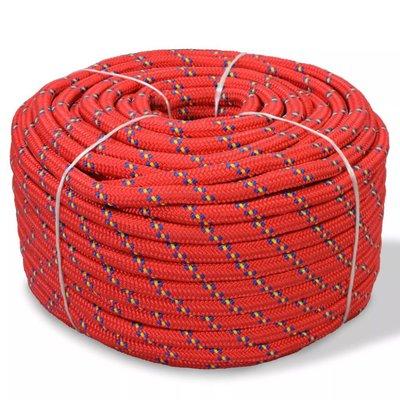 Boot touw 12 mm 50 m polypropyleen rood