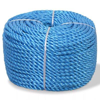 Touw gedraaid 12 mm 100 m polypropyleen blauw