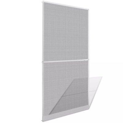 Hordeur met scharnieren wit 100 x 215 cm