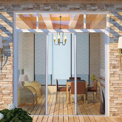 Schuifhor voor deuren wit 215 x 215 cm