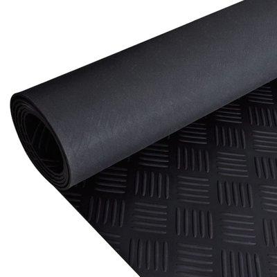 Rubberen anti-slip vloermat 2x1m traanplaat