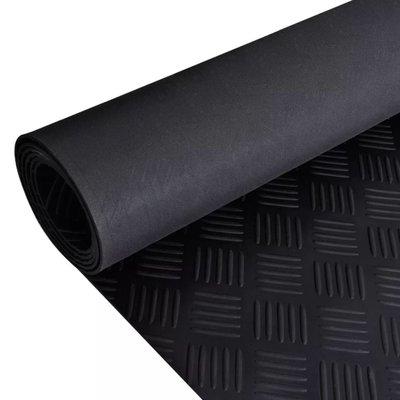 Rubberen anti-slip vloermat 5x1m traanplaat