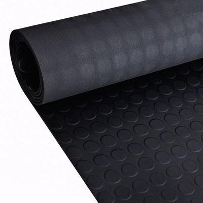 Rubberen anti-slip vloermat 2x1m stippen