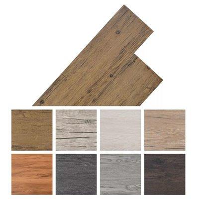Vloerplanken 5,26 m² PVC walnoot bruin