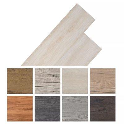 Vloerplanken 5,26 m² PVC klassiek wit eiken