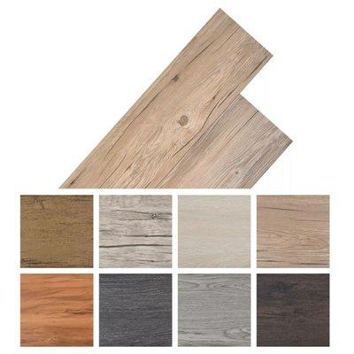 Vloerplanken 5,26 m² PVC eiken bruin