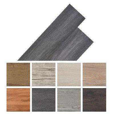 Vloerplanken zelfklevend 5,02 m² PVC zwart en wit
