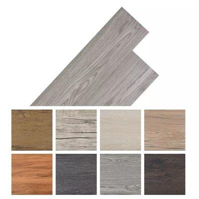 Vloerplanken zelfklevend 5,02 m² PVC donkergrijs