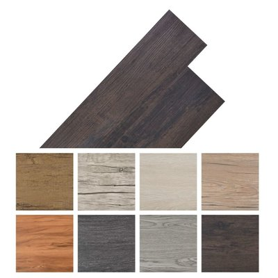 Vloerplanken zelfklevend 5,02 m² PVC donkergrijs eiken